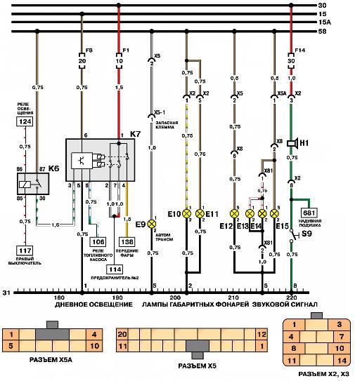 Звуковой и световые сигналы